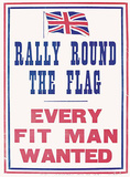 Rally Round the Flag Blechschild