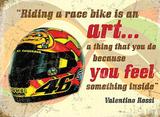 Valentino Rossi - Metal Tabela
