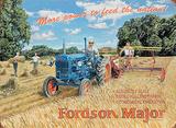 More Power Fordson Cartel de chapa por Trevor Mitchell