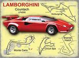 Lamborghini Plaque en métal