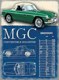 MG 1967 MGC Cartel de chapa