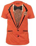 Retro Prom Costume Tee - Orange (slim fit) Bluse