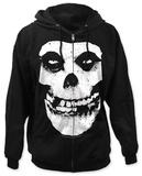 Zip Hoodie: Misfits - Fiend Skull Hettejakke