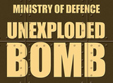 Unexploded Bomb Plakietka emaliowana