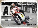 Giacomo Agostini Plaque en métal