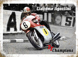 Giacomo Agostini Tin Sign