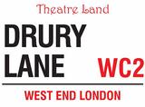 Drury Lane Blechschild