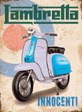 Lambretta - Innocenti - Blue Plaque en métal