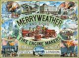 Merryweather Fire Engine Plakietka emaliowana
