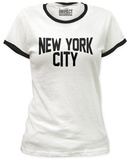 Juniors: New York City Ringer Tee Shirts