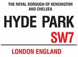 Hyde Park Plechová cedule