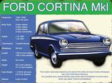Ford Cortina Cartel de chapa