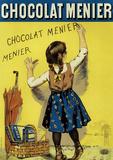 Chocolat Menier Plaque en métal