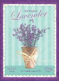 English Lavender Tin Sign
