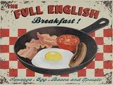 Full English Plaque en métal