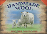 Handmade Wool Tin Sign