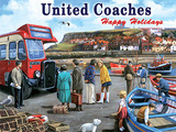 United Coaches Tin Sign by Kevin Walsh