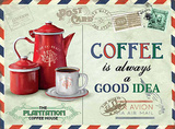 Coffee - Good Idea Plaque en métal