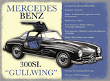 Mercedes Benz 300SL Blikkskilt