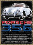Porsche 356 Plaque en métal