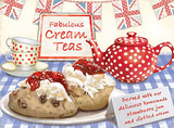 Cream Teas Tin Sign