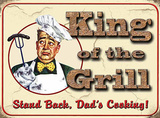 King of the Grill Tin Sign