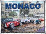 Monaco 13 Mai 1958 Cartel de metal
