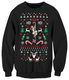 Crewneck Sweater - Ho! Ho! Ho! Ugly Sweater T-Shirt