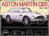 Aston Martin DB5 Cartel de metal