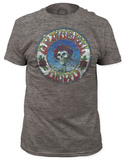 Grateful Dead - Skull & Roses Distressed (slim fit) Shirts
