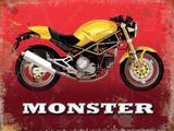 Ducati Monster Plaque en métal