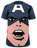 Captain America - Big-Head Captain America (slim fit) T-Shirt
