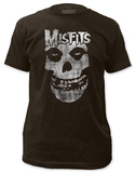 Misfits - Distressed Skull (slim fit) Magliette
