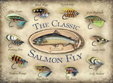 The Classic Salmon Fly Carteles metálicos