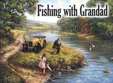 Fishing with Grandad Cartel de metal por Kevin Walsh
