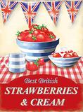 Strawberries & Cream Tin Sign