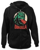 Zip Hoodie: Godzilla - Circle Portrait Sudadera con cremallera