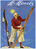 St. Moritz Lady Plaque en métal