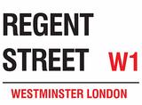 Regent Street Blechschild