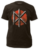 Dead Kennedys - Distressed Logo (slim fit) Tシャツ