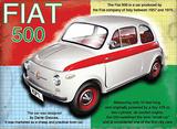 Fiat 500 Blikkskilt