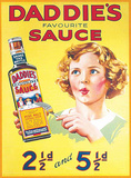 Daddie's Sauce Tin Sign