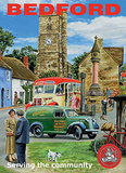 Bedford Serving The Community Tin Sign by Trevor Mitchell