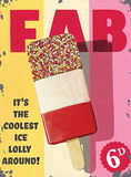 Fab Lolly Tin Sign by Martin Wiscombe