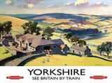 Yorkshire Farm Scene Carteles metálicos