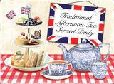 Traditional Afternoon Teas Blechschild