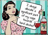 Alcohol wage Blikkskilt