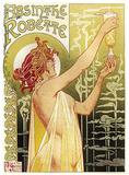 Absinthe Robette Plaque en métal