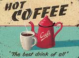Martin Wiscombe - Hot Coffee Plechová cedule