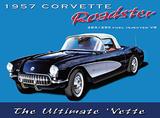 Corvette - Precious Metal Plechová cedule